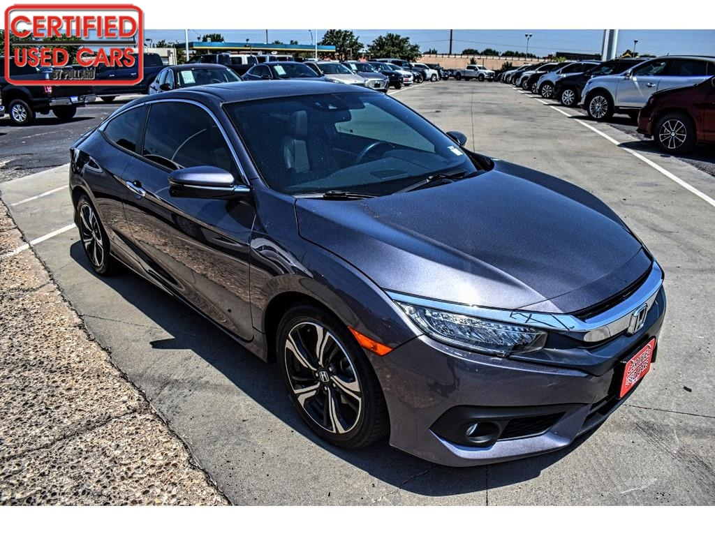 2017 Honda Civic Coupe Touring / Certified Used Cars of Lubbock / Lubbock / TX / 79423